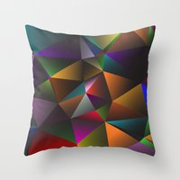triangles Throw Pillows featuring TRIANGLES by eARTh