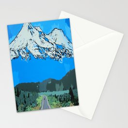 Abstract Painting Mt Everest Stationery Cards