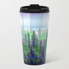 Plaid Forest Metal Travel Mug