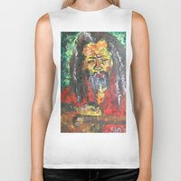 rasta Biker Tanks featuring Rasta Man by sladja