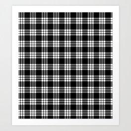 MacFarlane Black + White Tartan Modern Art Print