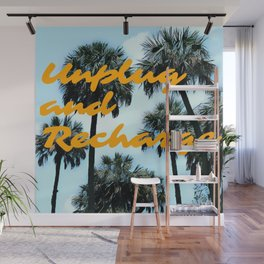 Unplug and Recharge Wall Mural