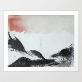 Morning's Snow Art Print