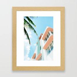 Miami Fresh Summer Day Framed Art Print