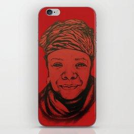 Maya Angelou - (red) Original Sketch to Digital iPhone Skin