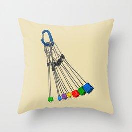 Rock Climbing Wires Throw Pillow