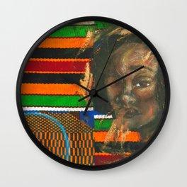 Kente Queen Wall Clock