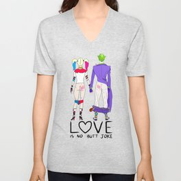 LOVE is no BUTT Joke - Handwritten Unisex V-Neck