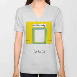 Cat Flap Club Unisex V-Neck