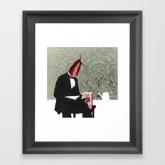 raphanus sativus Framed Art Print