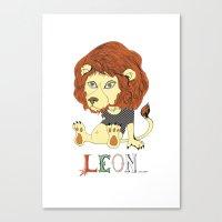 leon Canvas Prints featuring Leon by eva vasari