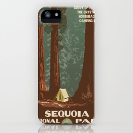 Vintage poster - Sequoia National ParkX iPhone Case