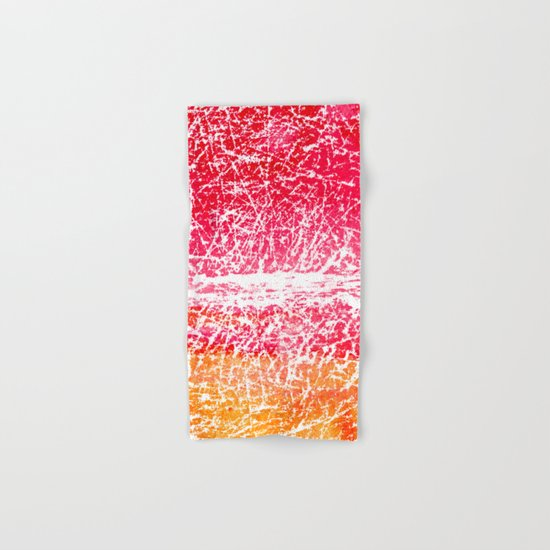 Red and yellow abstract texture Hand & Bath Towel
