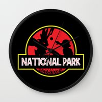 the national Wall Clocks featuring National Park by EnoLa
