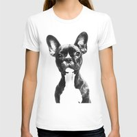 french bulldog T-shirts featuring French BullDog by Maioriz Home