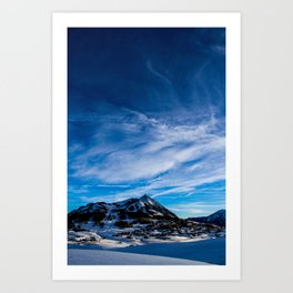 Wispy Clouds Above Crested Butte, Colorado. Art Print