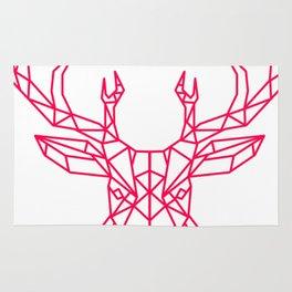 Reindeer Christmas Gift Sledge Funny Rug