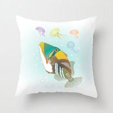 Triggerfish Throw Pillow