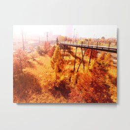 Philly Foliage Metal Print