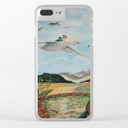 Nils Holgersson Clear iPhone Case