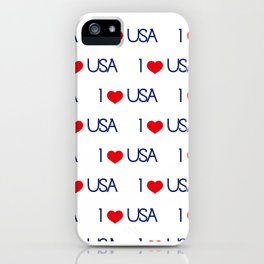 Neck Gaiter America I Love USA Face Mask Bandana Balaclava Headband Made in the USA iPhone Case