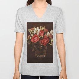 Old World Bouquet Unisex V-Neck