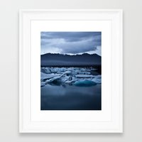iceland Framed Art Prints featuring Iceland by Daniel Fornies