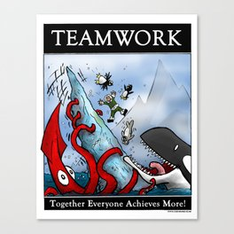 Teamwork Canvas Print