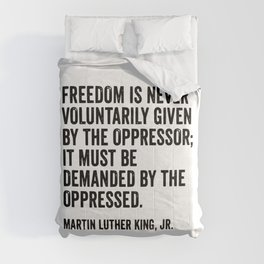 Martin Luther King Quote Comforters