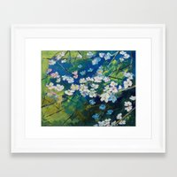 cherry blossoms Framed Art Prints featuring Cherry Blossoms by Michael Creese
