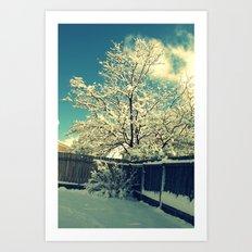 New Mexico Snow Scene  Art Print