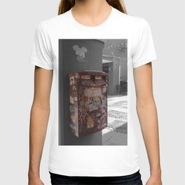 Bologna Red Letter Box Street Art Black and White Photography T-shirt