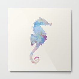 AFE Watercolor Seahorse Metal Print
