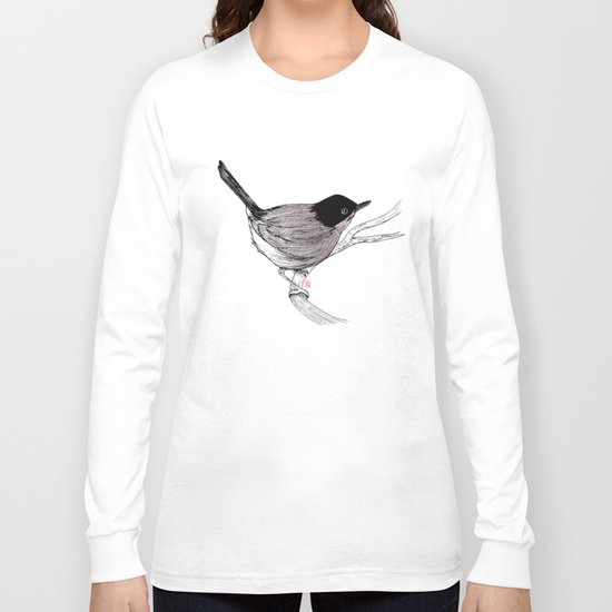 Blackcap Bird Long Sleeve T-shirt