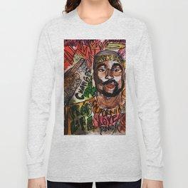 thug,rapper,rap,hiphop,music,rip,fan art,graffiti,street art,poster,colorful,lyrics,music,wall art Long Sleeve T-shirt