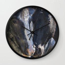 Bachelor Stallions - Pryor Mustangs Wall Clock