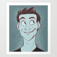 stiles Art Prints featuring Stiles by The Art of Nicole