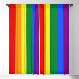 LGBTQ+ Pride Flag Blackout Curtain