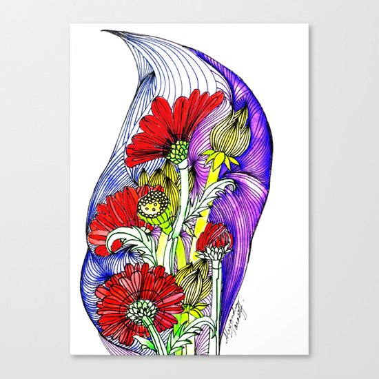 Flowers Two Canvas Print