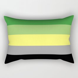 Aromantic pride flag Rectangular Pillow
