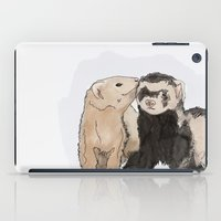 ferret iPad Cases featuring Ferret Kisses by Dannie Ann