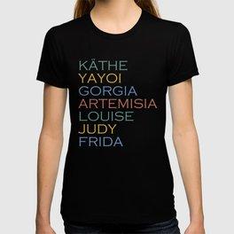 Famous Women Artists Feminism Art History T-shirt