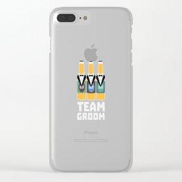 Team Groom Beerbottles Bqf18 Clear iPhone Case
