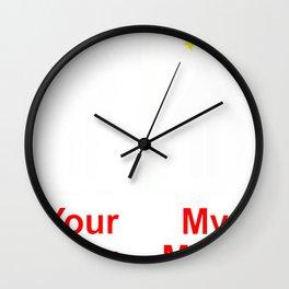 your mom vs my mom Wall Clock