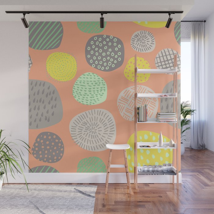 Abstract Multi-colored Circles Wall Mural