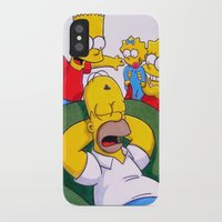 simpsons iPhone & iPod Cases featuring Simpsons by Brian David