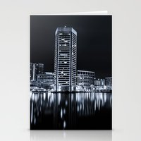 baltimore Stationery Cards featuring Baltimore Nights... by Jon Bilous