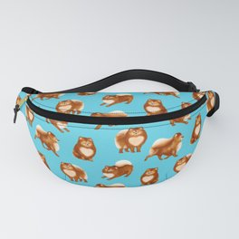 Pomeranian Pattern (Blue Background) Fanny Pack