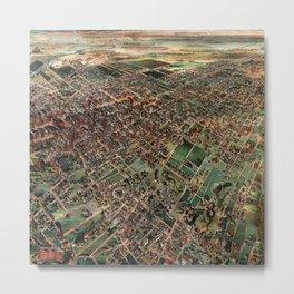 H.B. Elliott's birdseye map of Los Angeles, California Metal Print