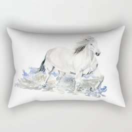 Wild White Horse Rectangular Pillow
